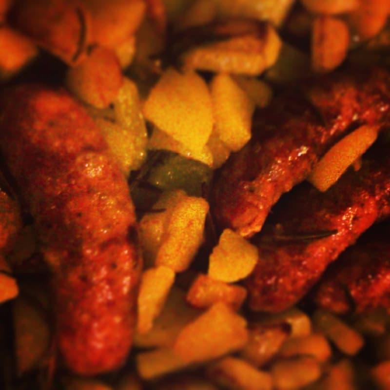 Salchichas y patatas