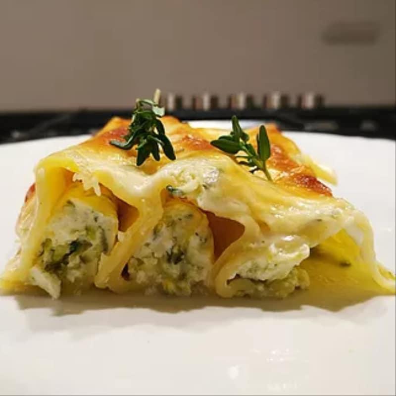 Cannelloni in crema di Ricotta e Zucchine