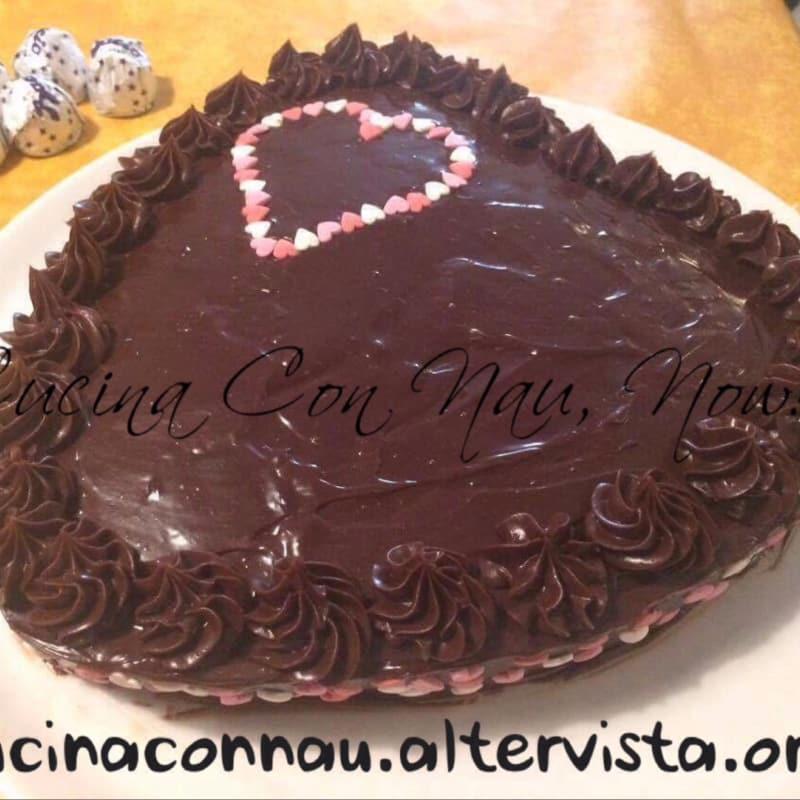 Pastel de chocolate ganache de chocolate y menta