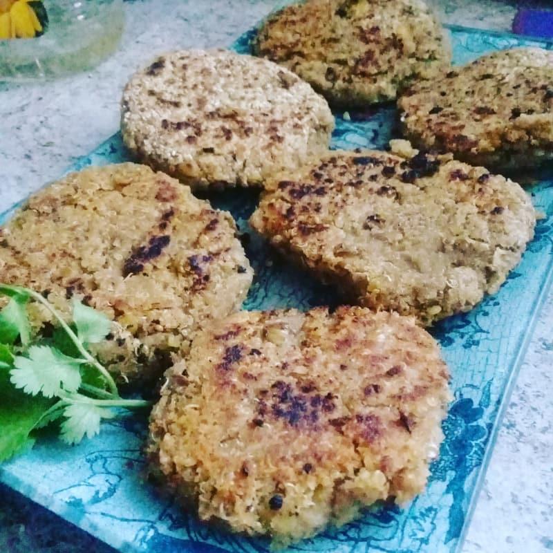Hamburguesas de Lentejas y quinoa