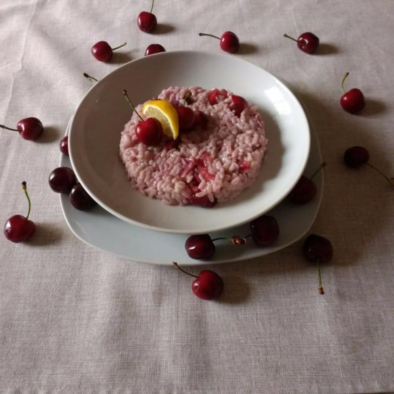 Risotto con las cerezas