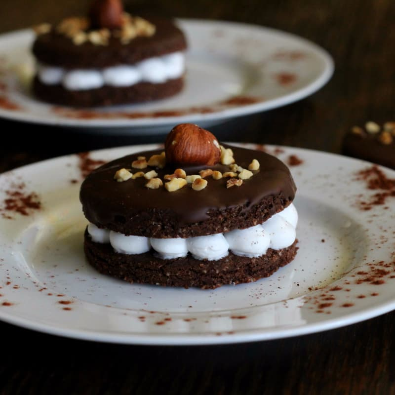 Biscotti al cacao ricoperti di cioccolato