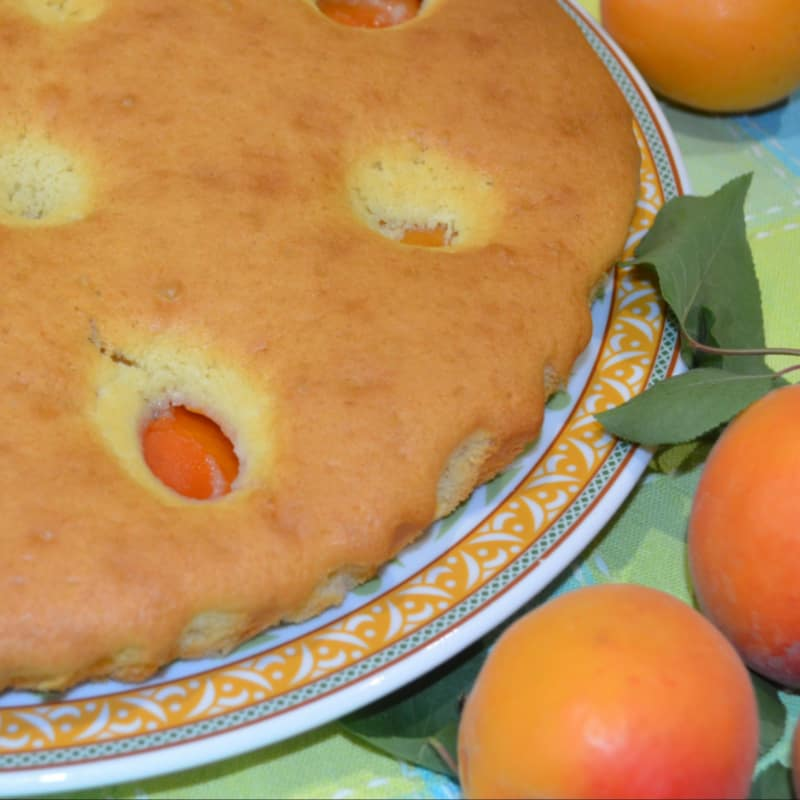 Soft cake with apricots