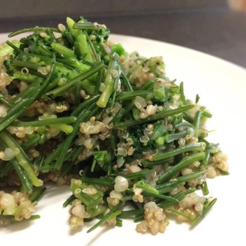 La quinua, trigo sarraceno, el brócoli y Agretti