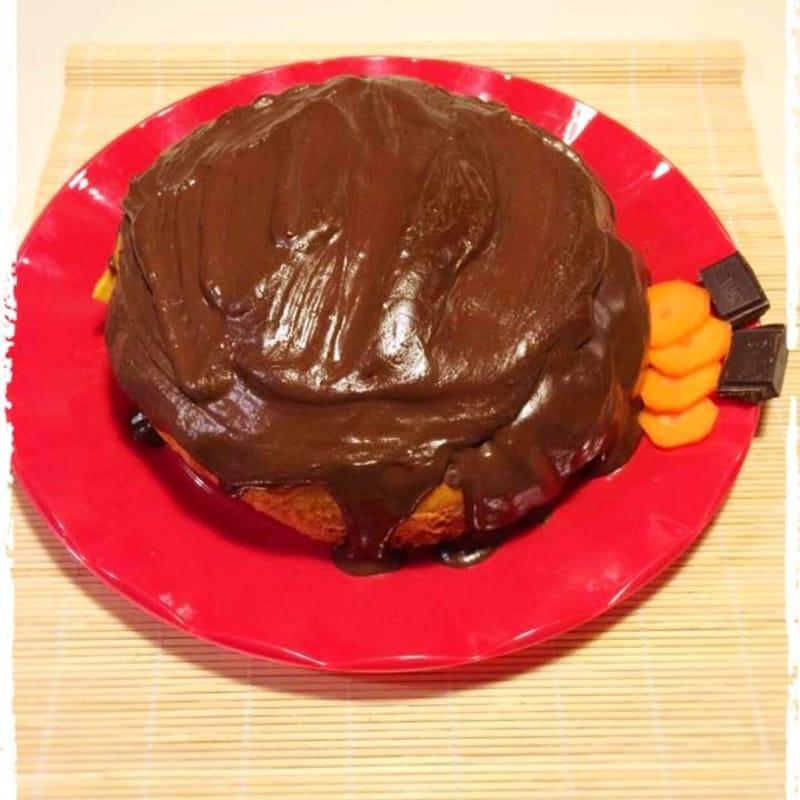 Pastel de zanahoria y chocolate sin lactosa