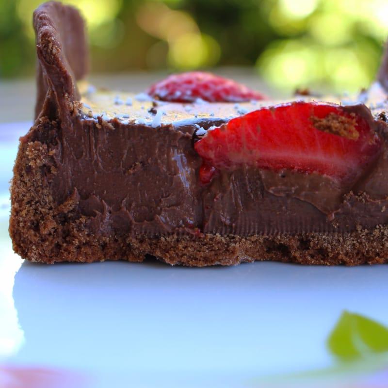 Ganache de chocolate del vegano