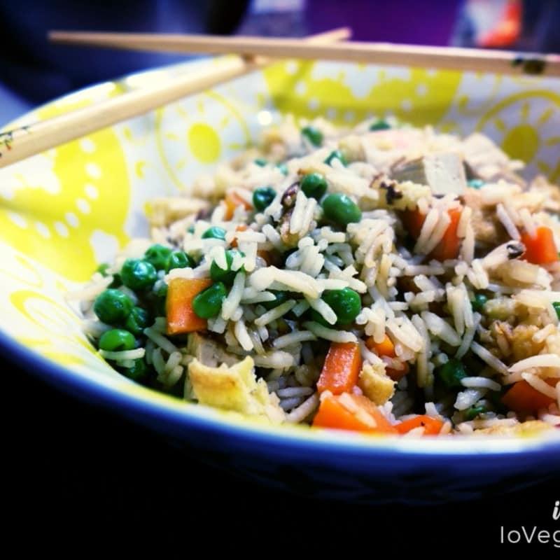 Cantonés arroz vegano