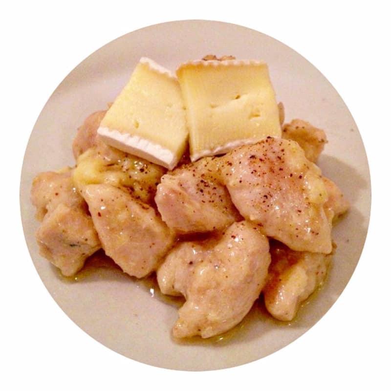 Trozos de pollo en Brie