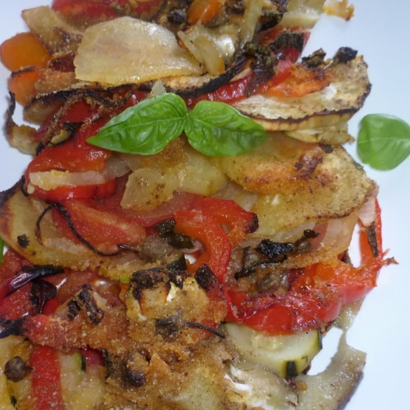 Baked vegetables in the oven