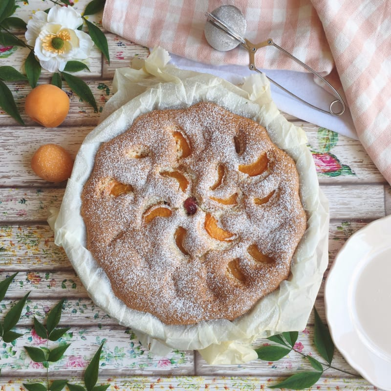 Apricot pie without lactose