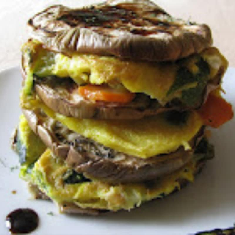 Omelette with grilled vegetables