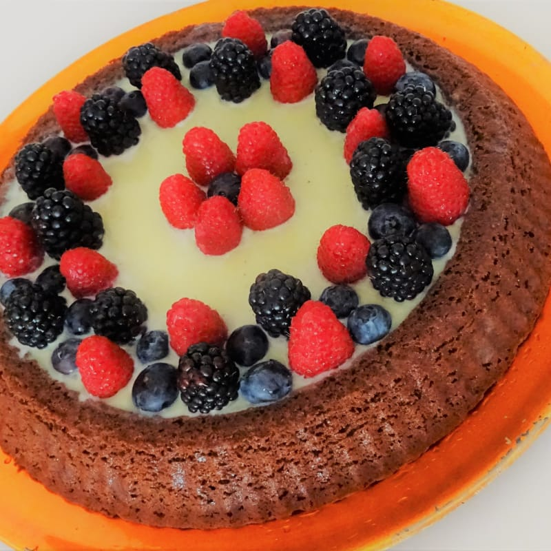 Gluten-free, gluten-free tart with the two chocolates