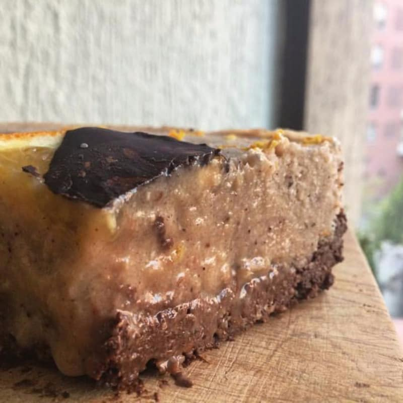 Tarta raw chocolate y naranja