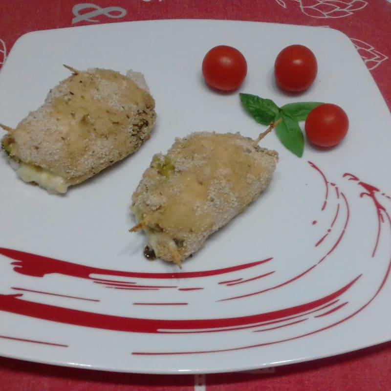 Involtini di petto di pollo con zucchine e cuore filante...