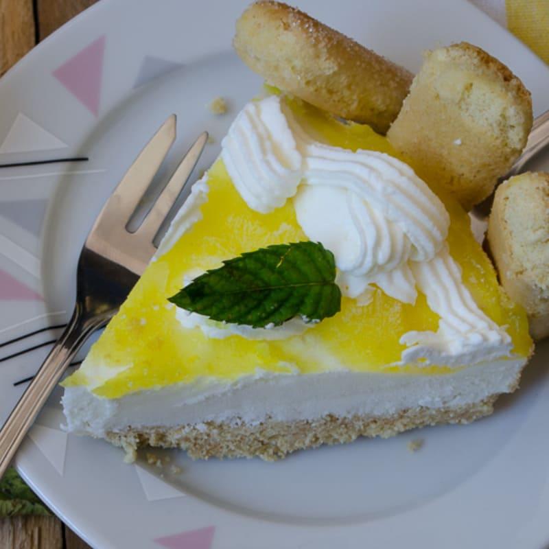Tiramisu de queso con limón