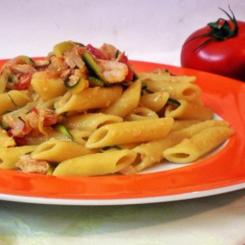 Prawn zucchini and tuna prawns