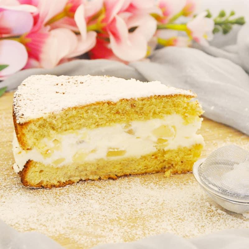 ricotta y pera torta