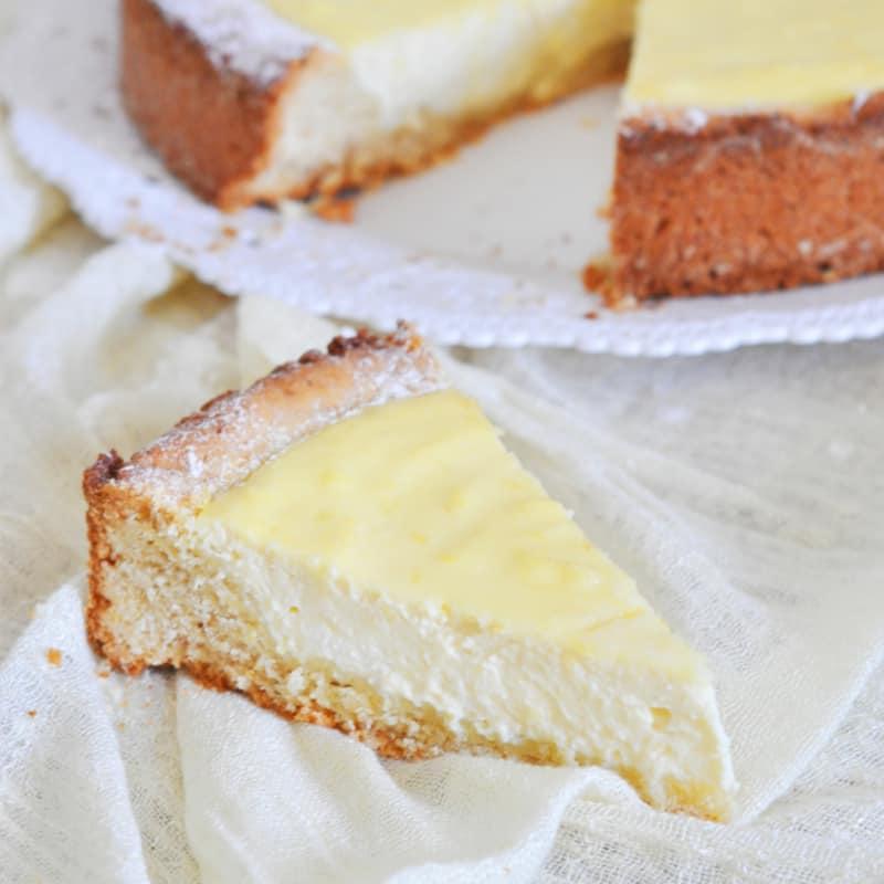 Tarta de queso suave y limón