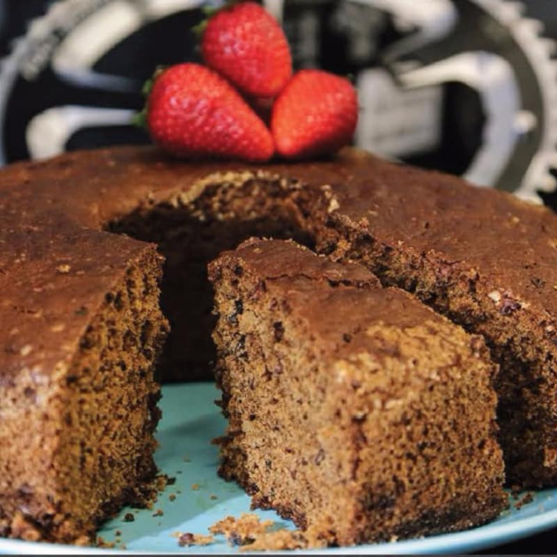 Banana cake, spices and cocoa beans