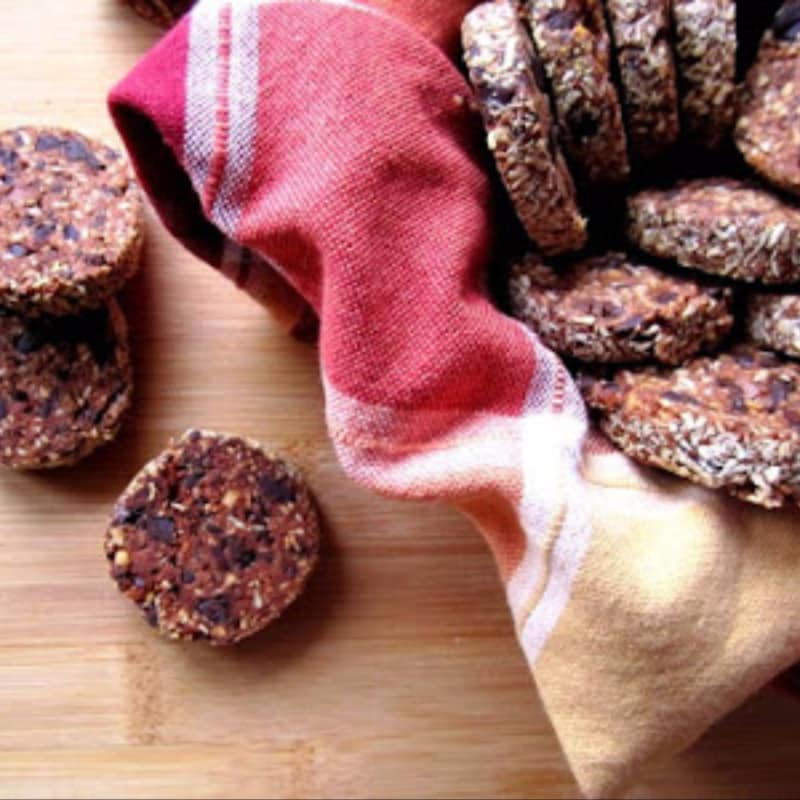 Galletas de maní choco con gemas de sal enteros