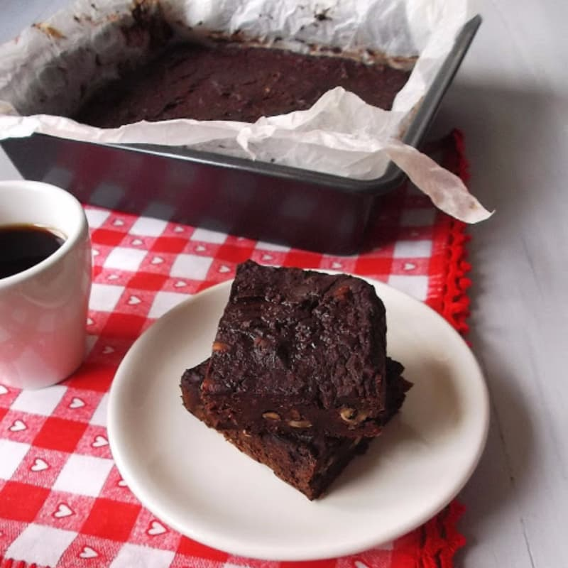Brownies de calabaza y chocolate