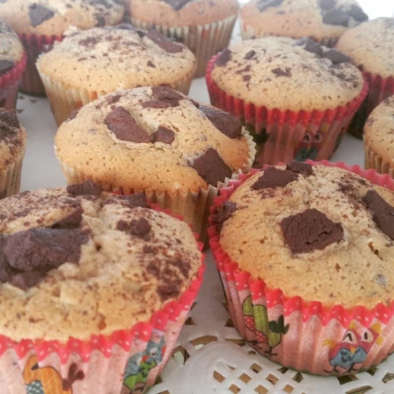 Muffin con pepite di cioccolato fondente