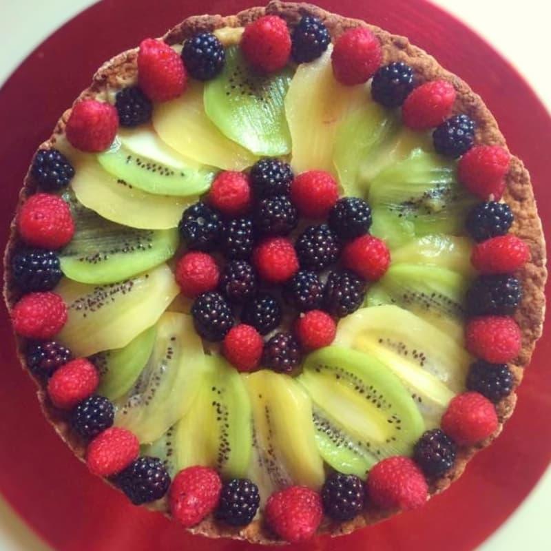 En Fruit Tart lactosa deletreada