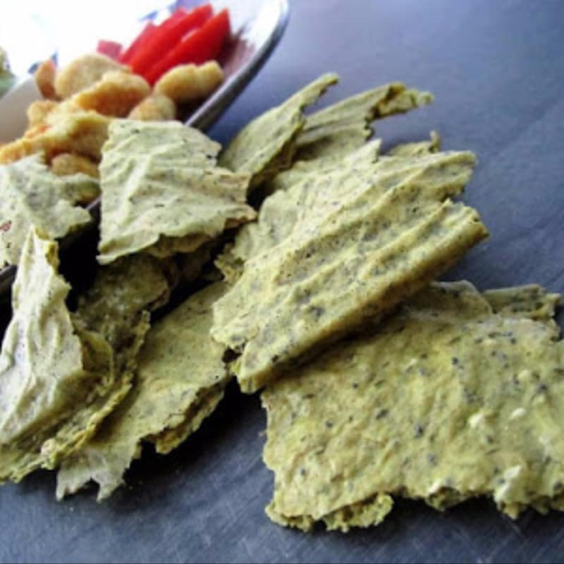 Crackers di riso profumato con aromi e semi misti