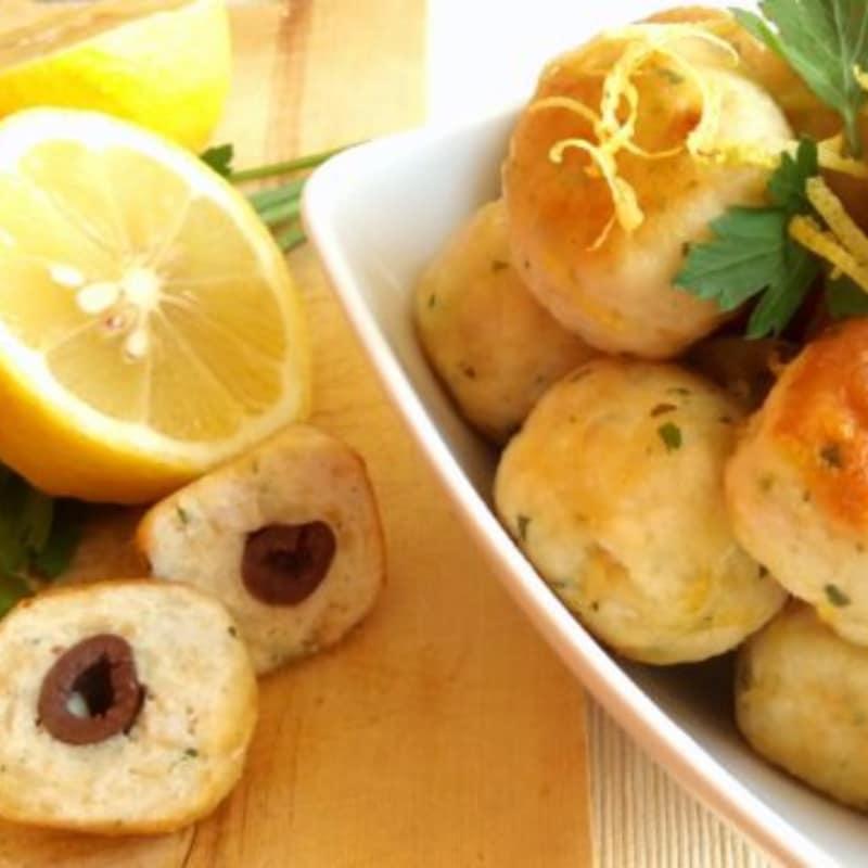 albóndigas de pavo con limón y aceitunas