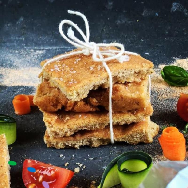 Focaccia vegan glutenfree con farina di lenticchie rosse