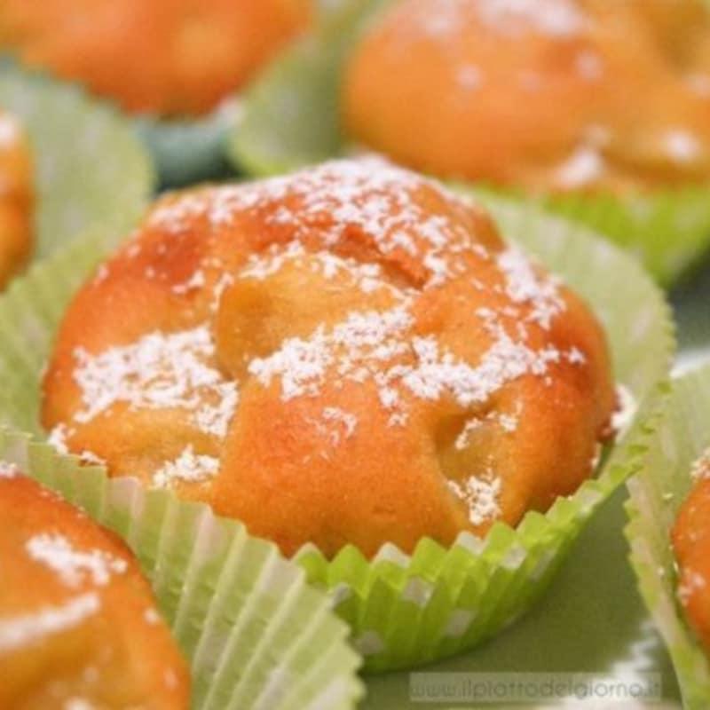 Las manzanas y las magdalenas de canela sin grasa
