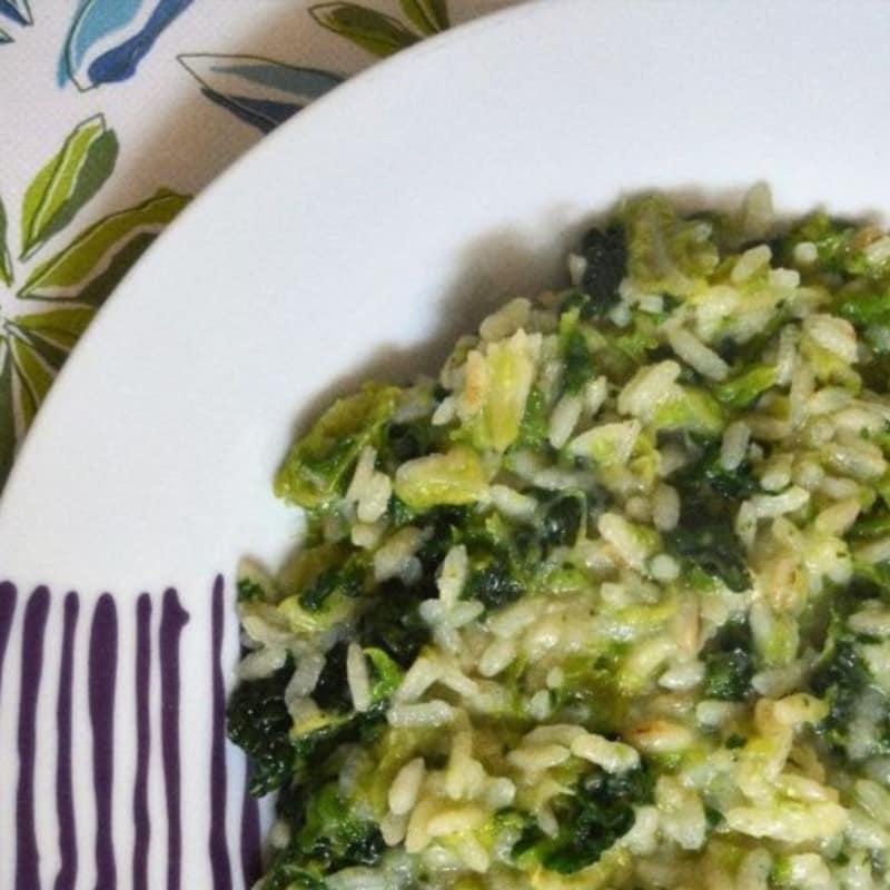 risotto de repollo y parmesano