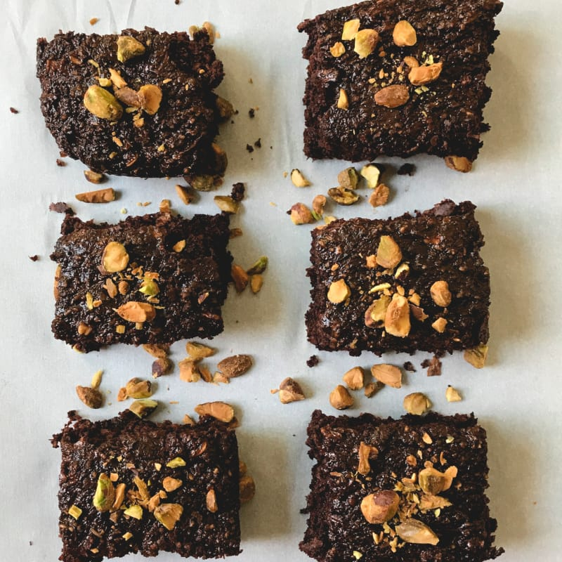 Brownies with pumpkin