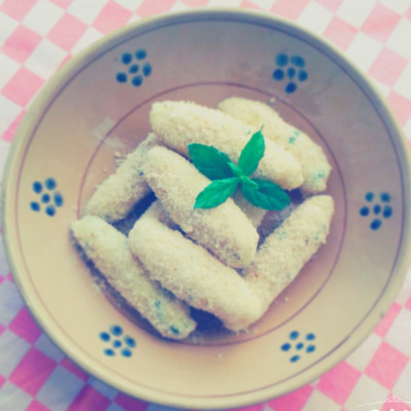 croquetas de patata y menta