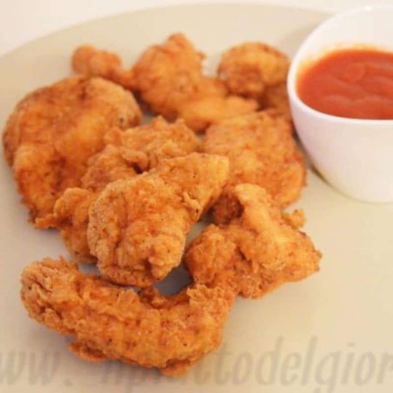 Trozos de pollo frito