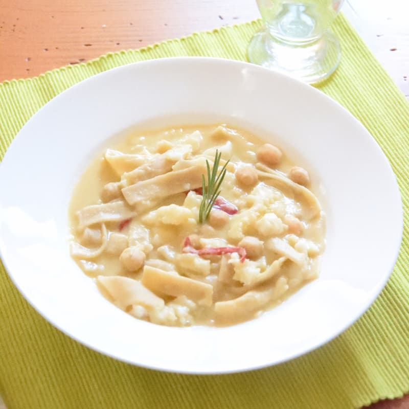 Abruzzo Sagnette, garbanzos y bacalao