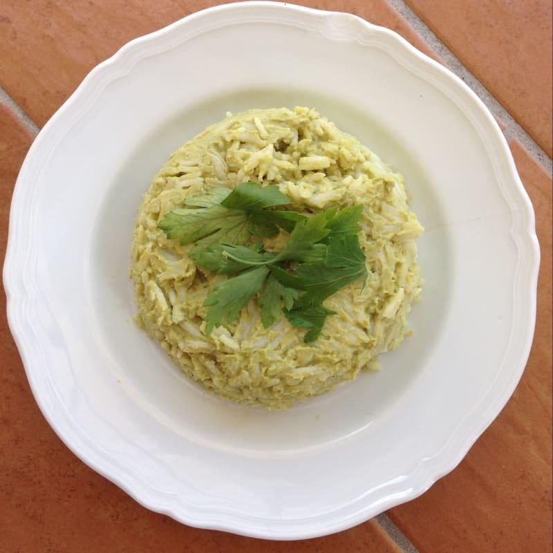 pastel de arroz con atún y calabacín