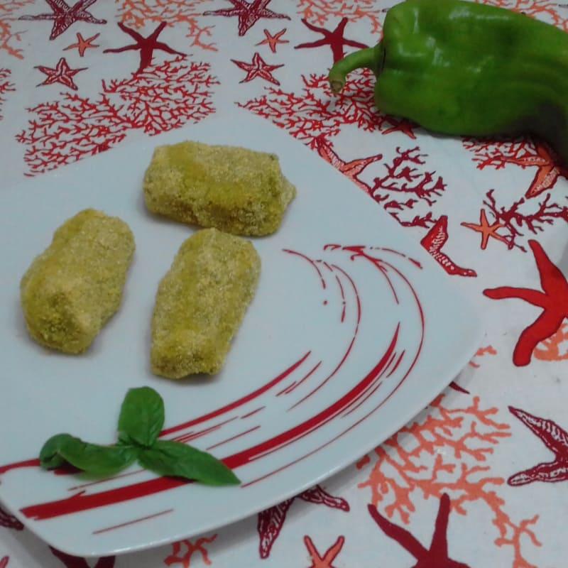 Croquetas de pimientos y patatas con el corazón Filante ...