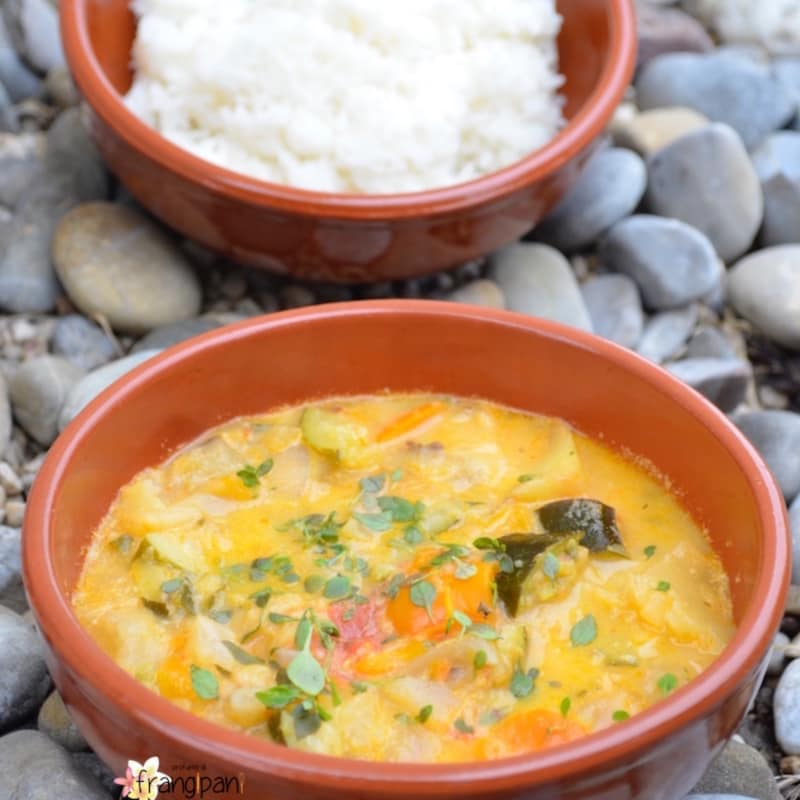 Basmati Rice Grilled Vegetable Soup