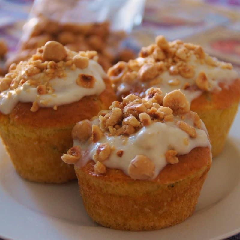 avellanas para muffins y gorgonzola