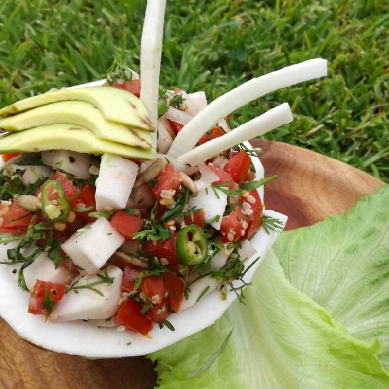 Coconut and Seed Ceviche