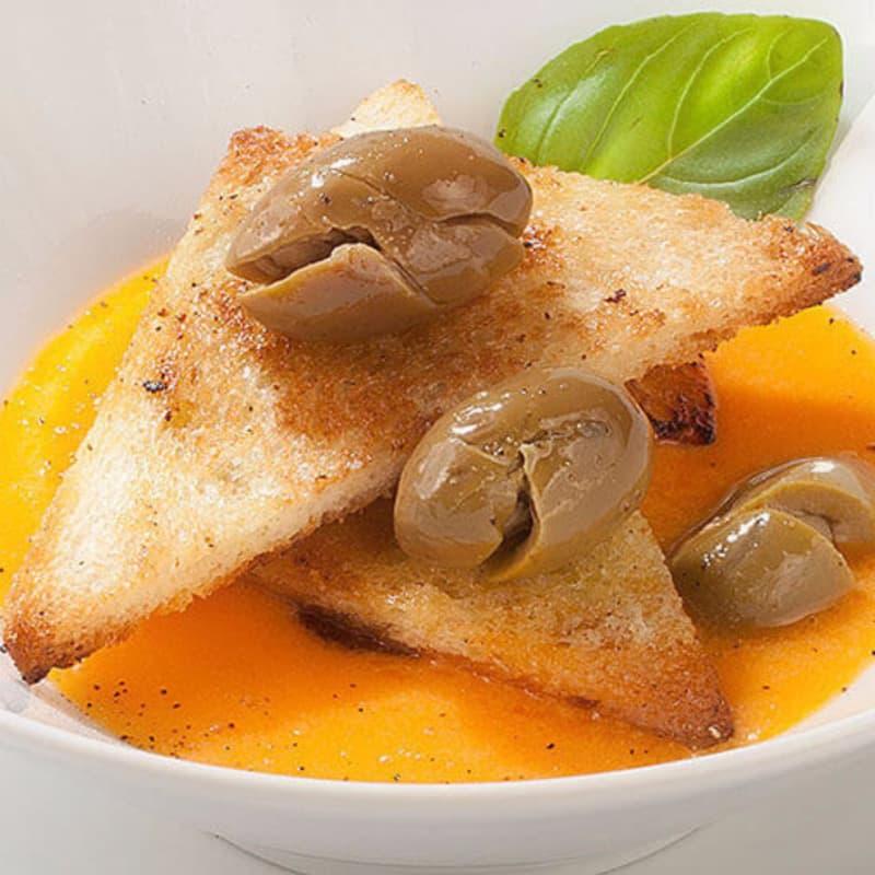 Gazpacho con aceitunas trituradas Nocellara Etnea