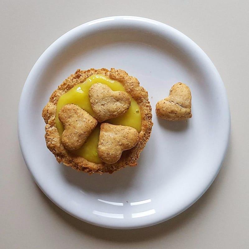 Tarta con crema pastelera vegana