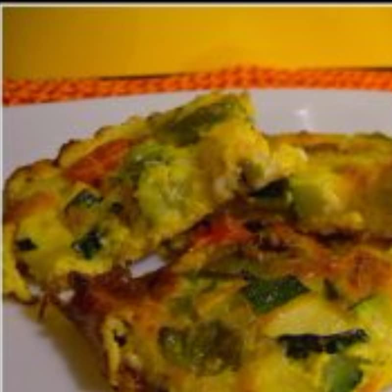 Crepes al horno con verduras de temporada, las anchoas y Caciotta