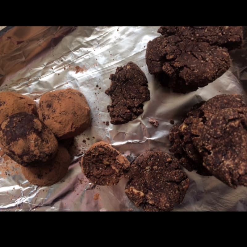Bolitas raw y galletas veganas misma receta