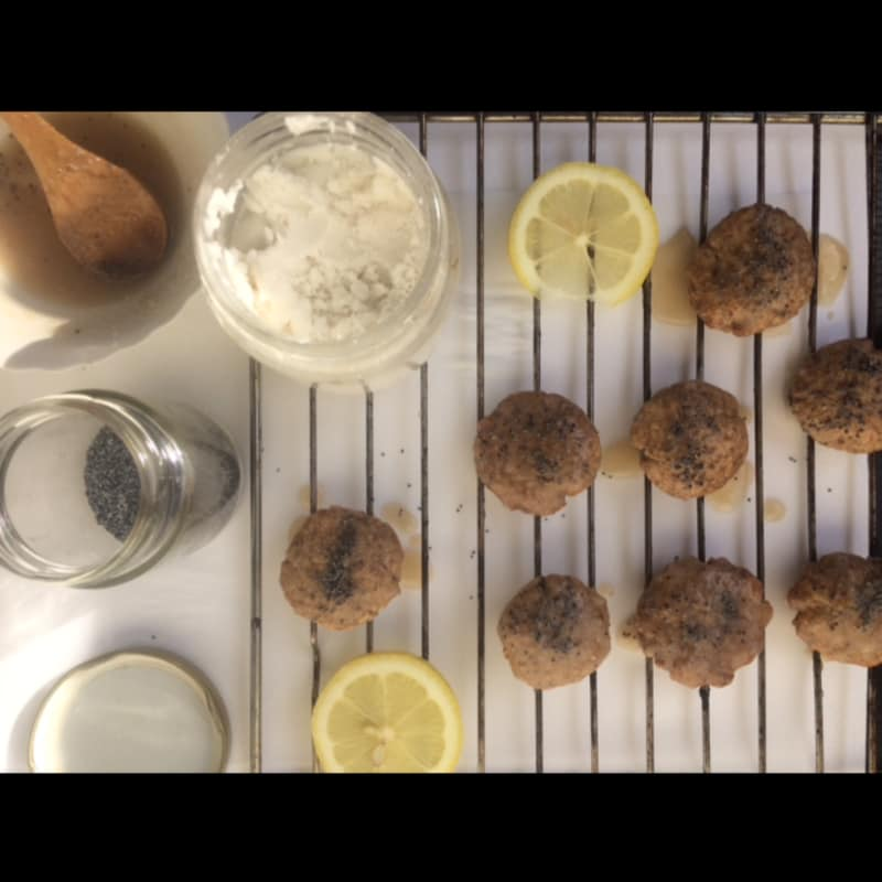 Vegan gluten-free lemon biscuits