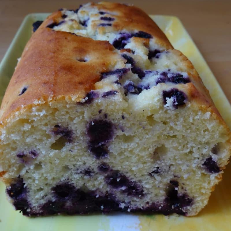 Yogur y arándanos Plumcake sin gluten