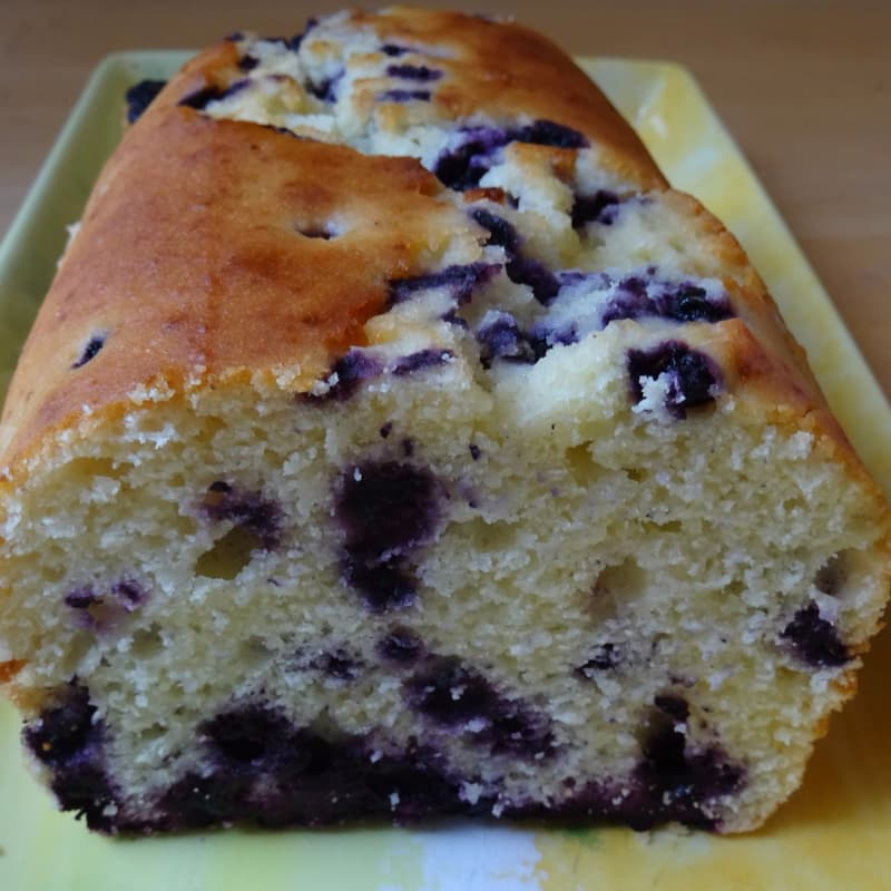 Plumcake senza glutine Yogurt e Mirtilli