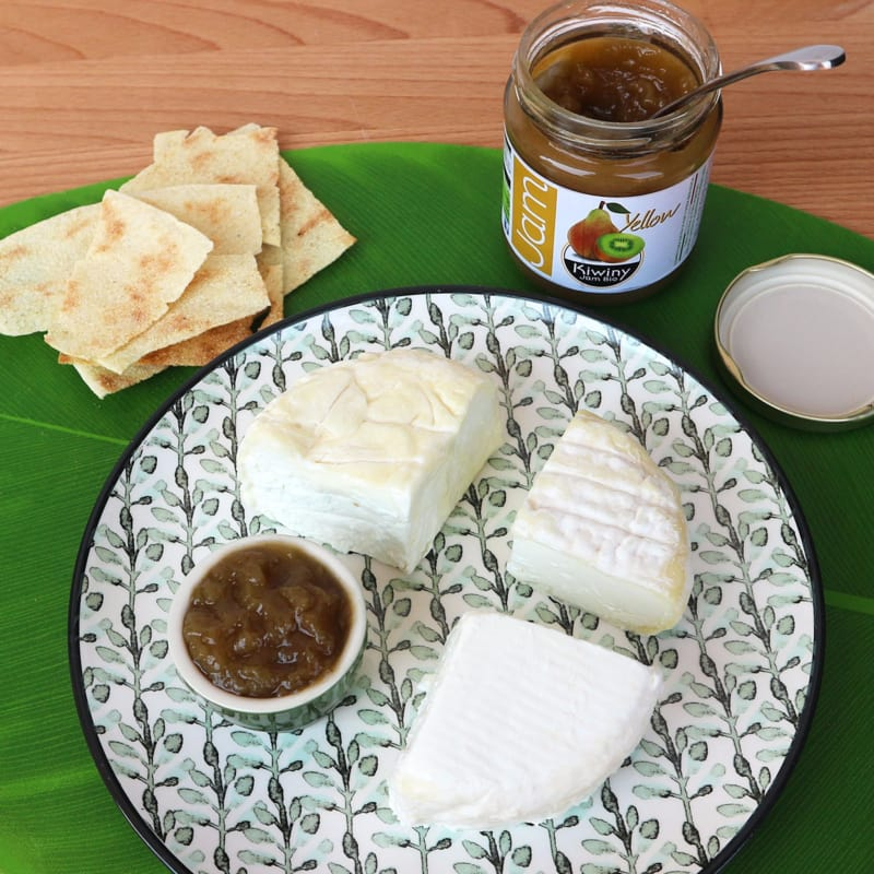 Queso y kiwi mermelada (ny)