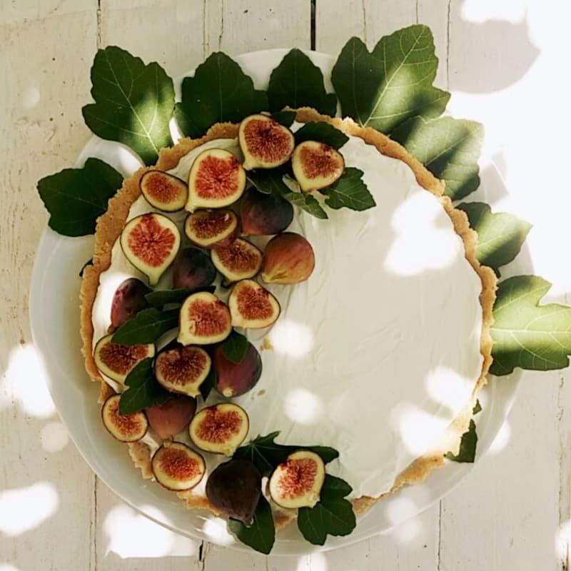 tarta fresca con higos
